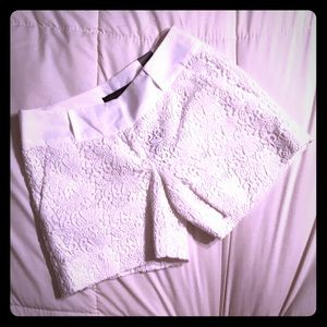 NWT The Limited Cream Colored Lace Shorts